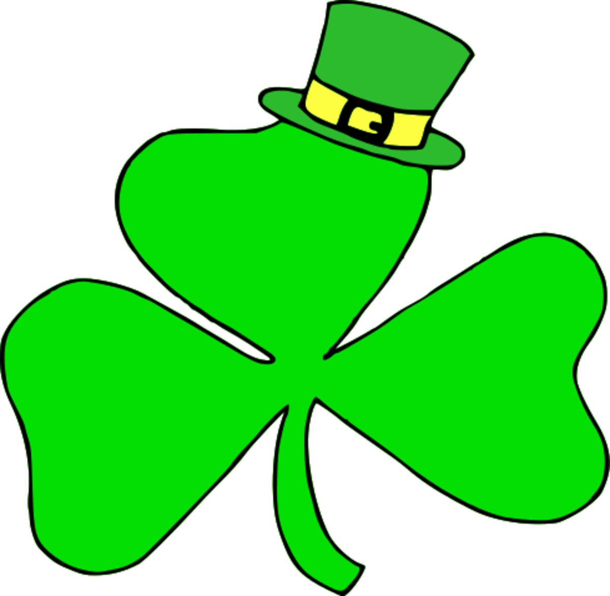 Shamrock with Leprechaun Hat