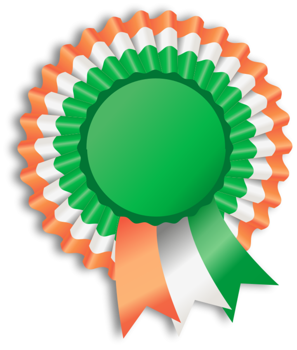 Badge with Colors of Ireland