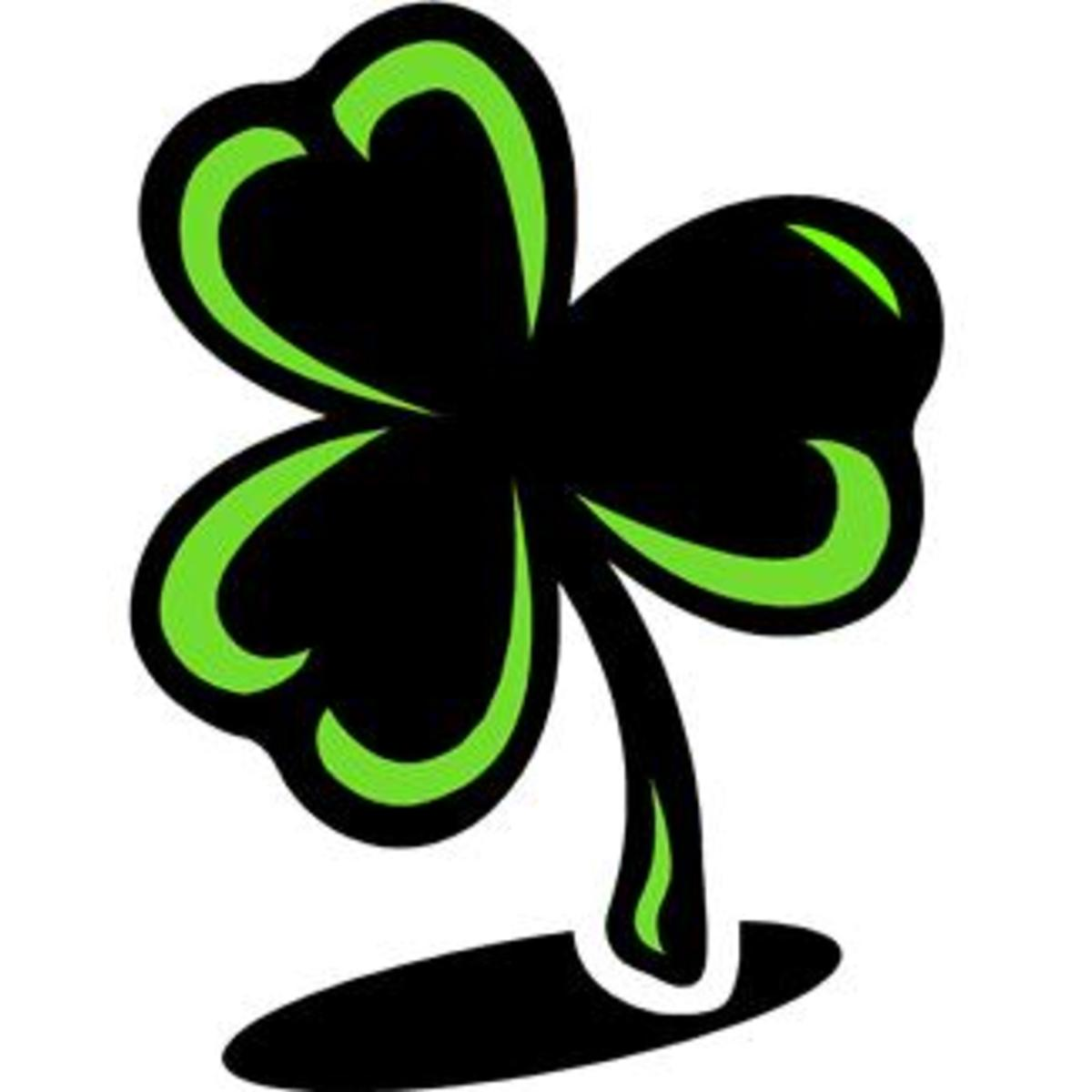 Green and Black Shamrock Image