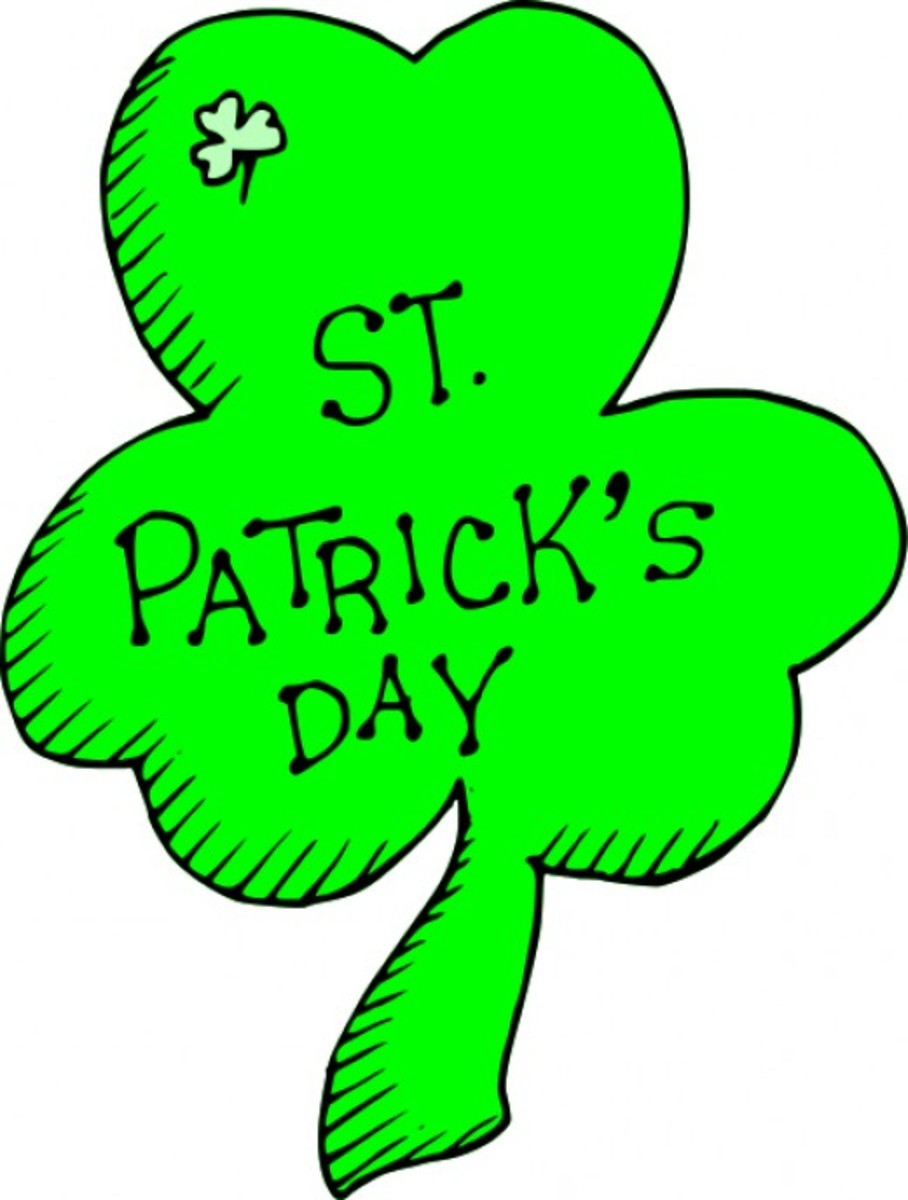 'St. Patrick's Day' Image on Shamrock