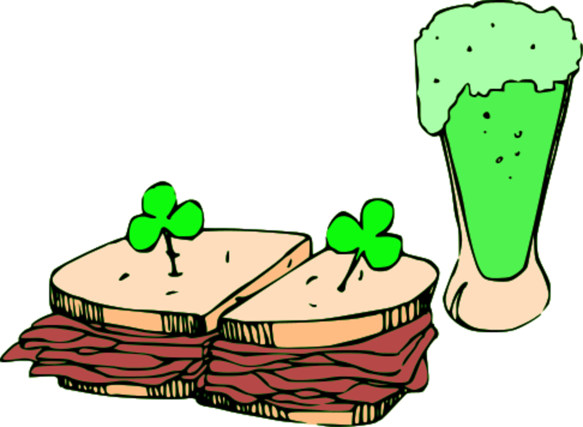 Green Beer and Corned Beer Sandwiches