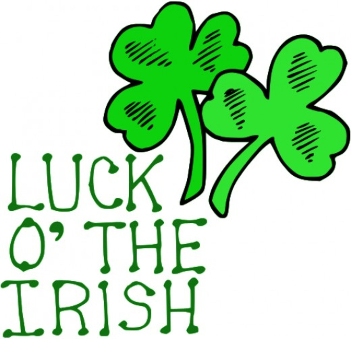 'Luck O' the Irish' with Shamrocks