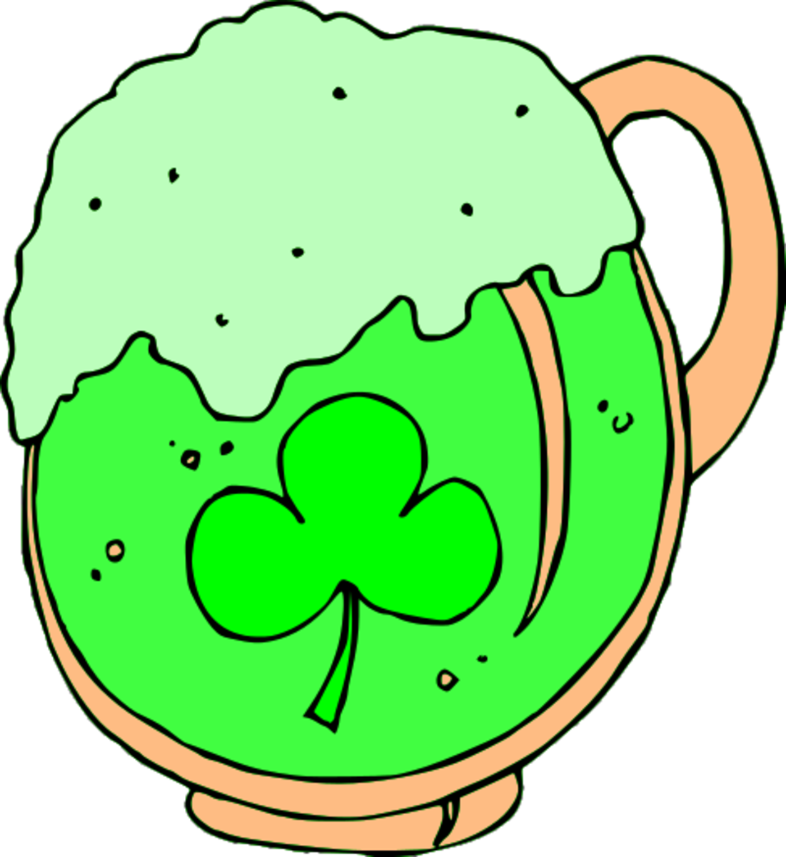 Green Beer with Shamrock Mug