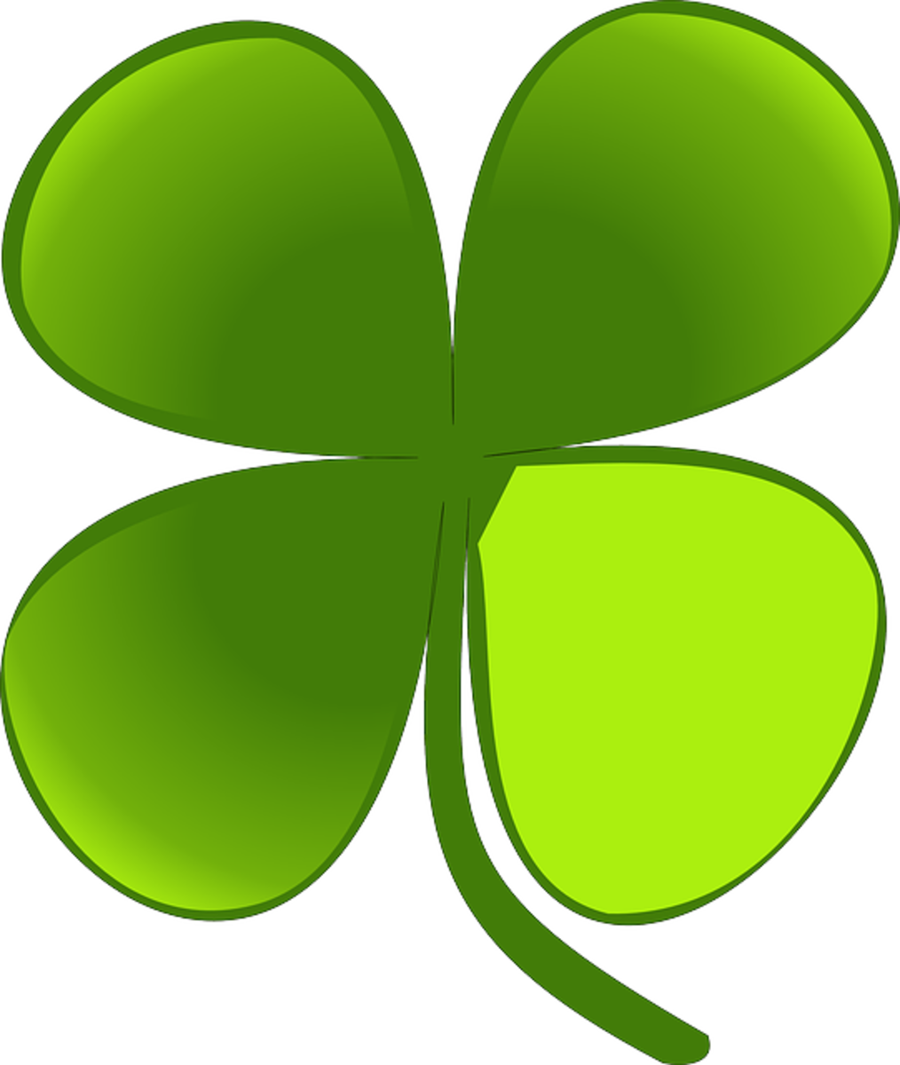 Lime Green Four-Leaf Clover