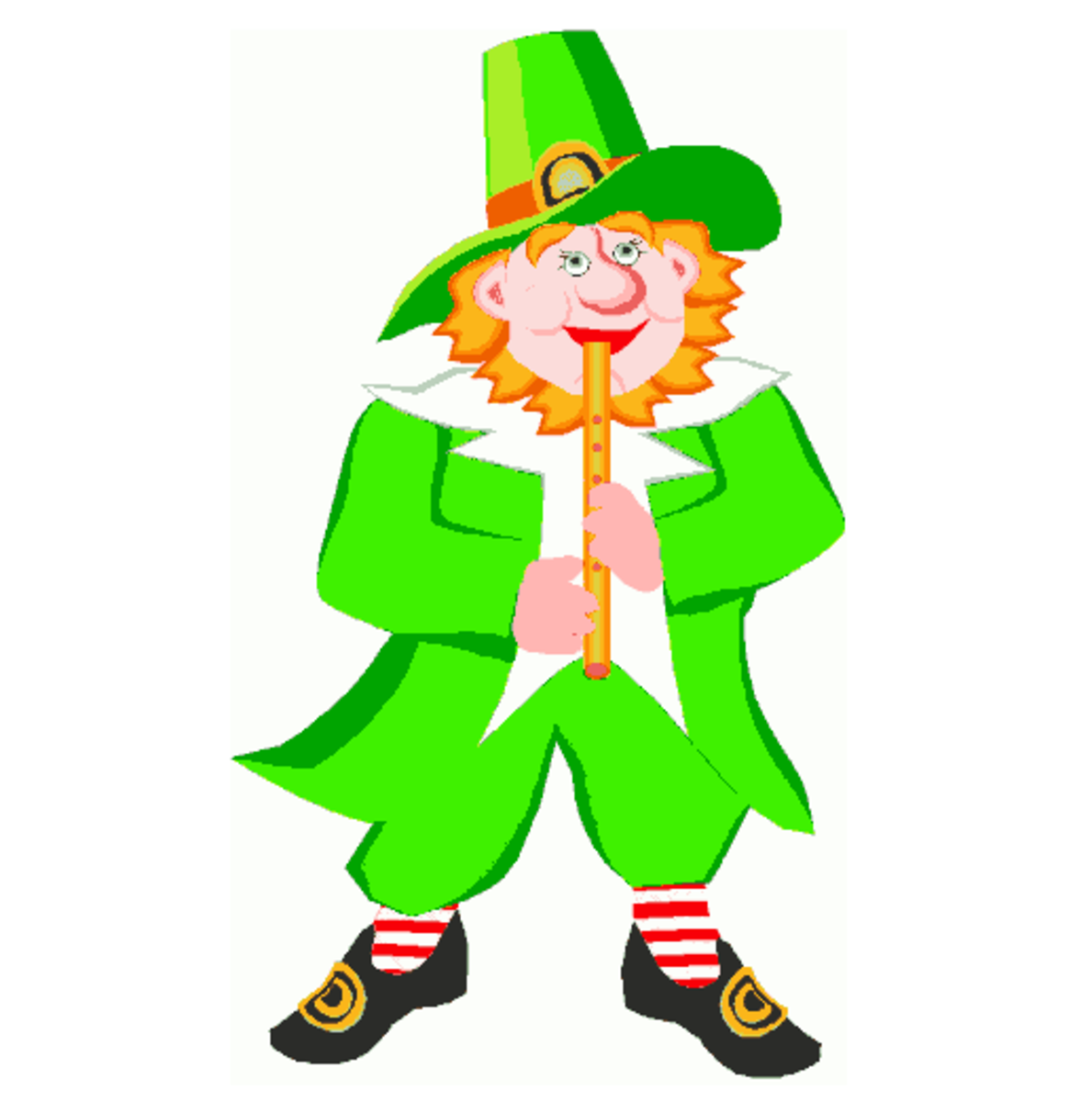 Leprechaun Playing a Flute