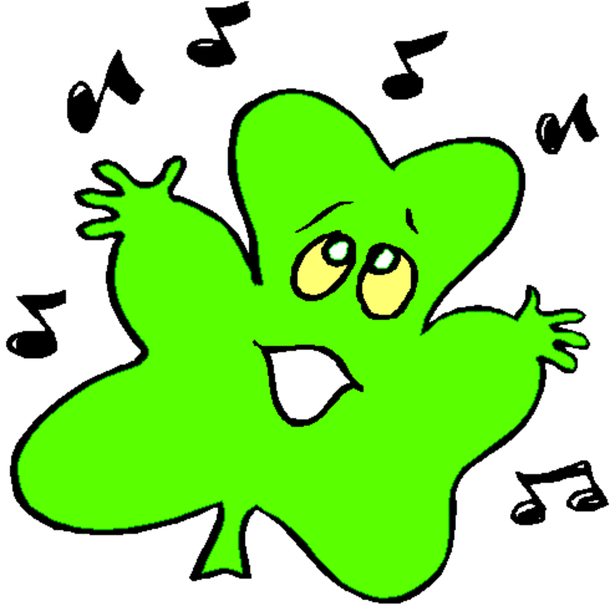 Singing Shamrock Cartoon
