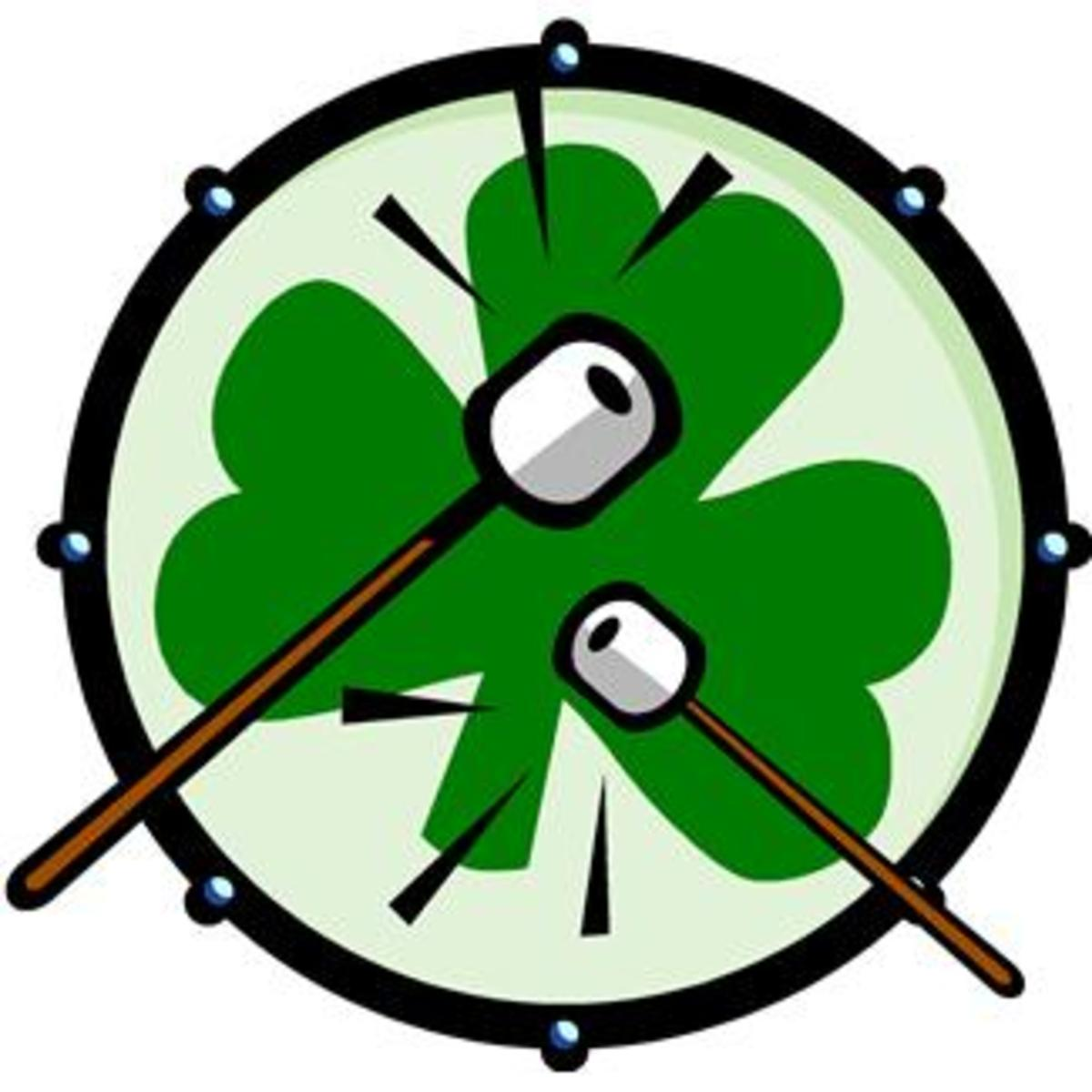Shamrock Drum for Irish Jig Music