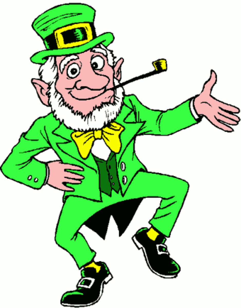 Leprechaun Dancing the Jig