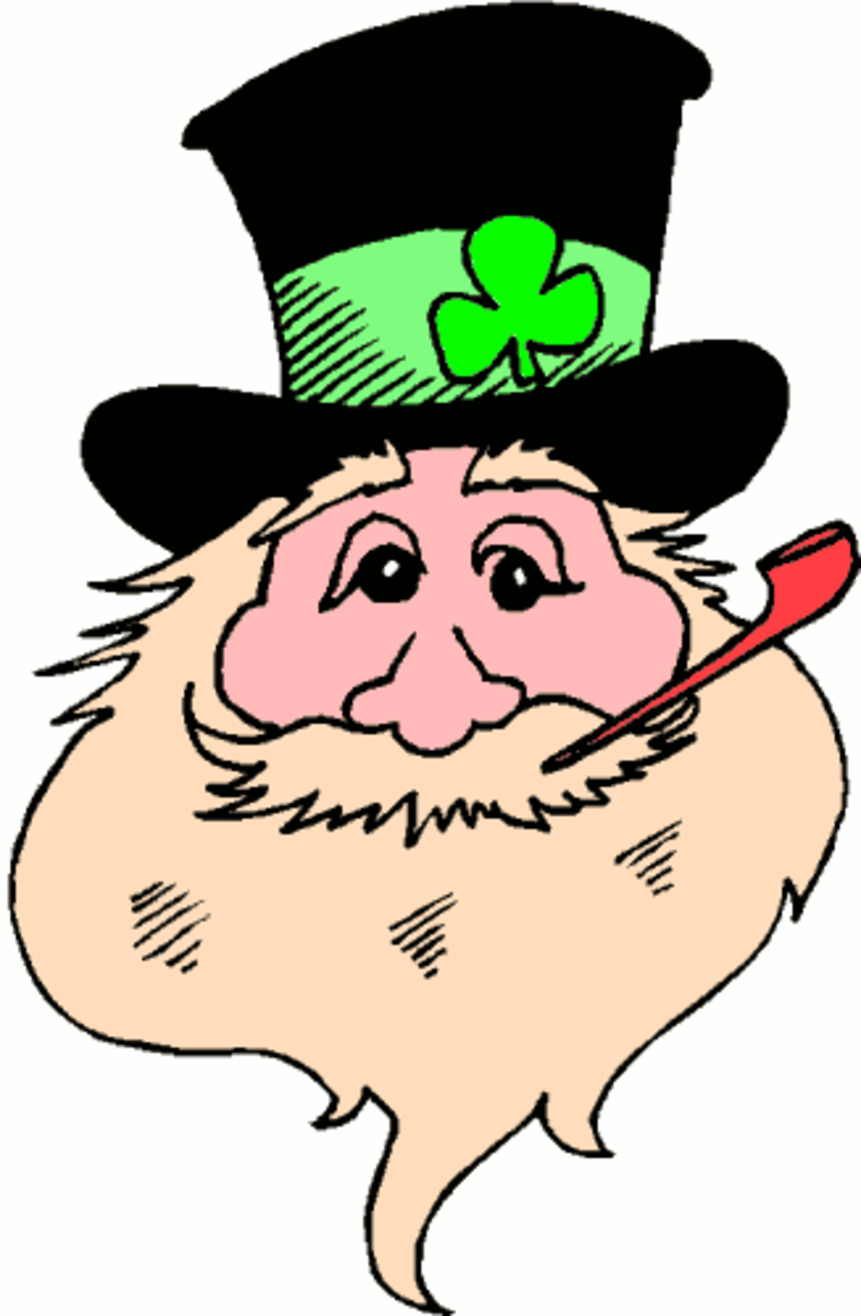 Leprechaun Smoking Red Pipe