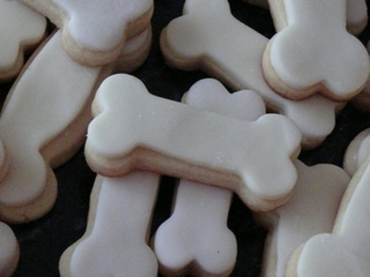Dog bone cookies by rsvpscakes