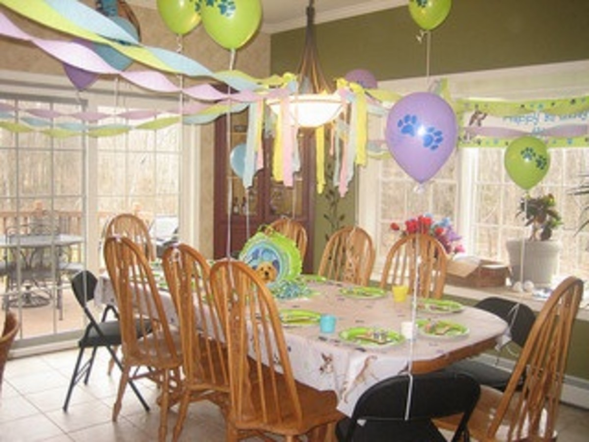 Puppy dog birthday party decorations