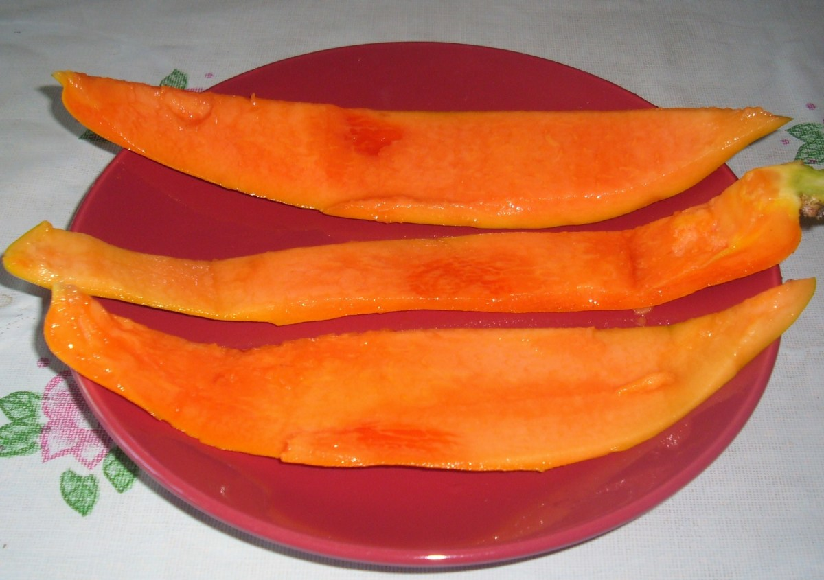 Hulled papaya