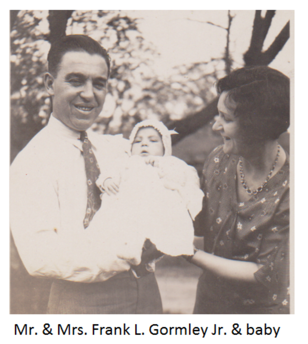 Frank L. Gormley with wife and daughter