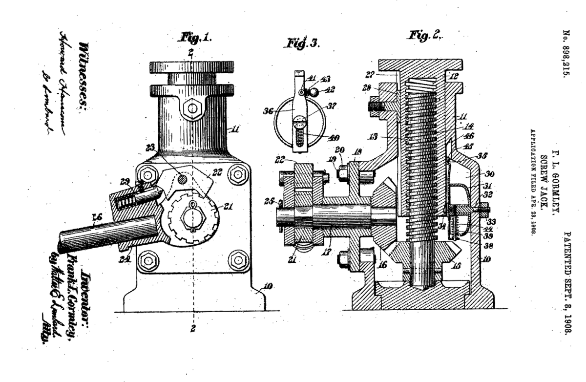 Screw Jack Inventor: Frank L. Gormley Sr.