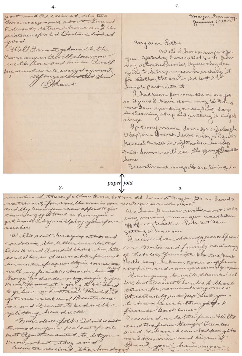 Original Letter sent by Frank Jr. to Frank Sr.