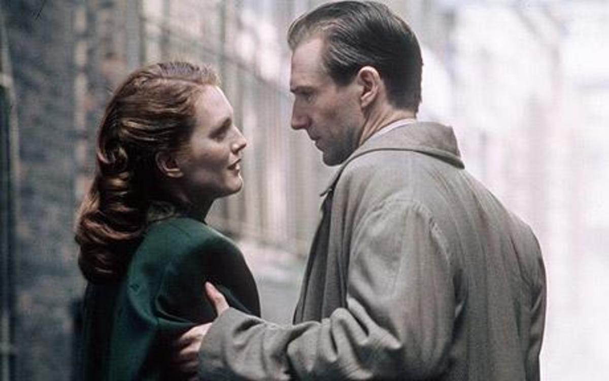 Still shot from the End of the Affair. Starring Ralph Fiennes and Julianne Moore