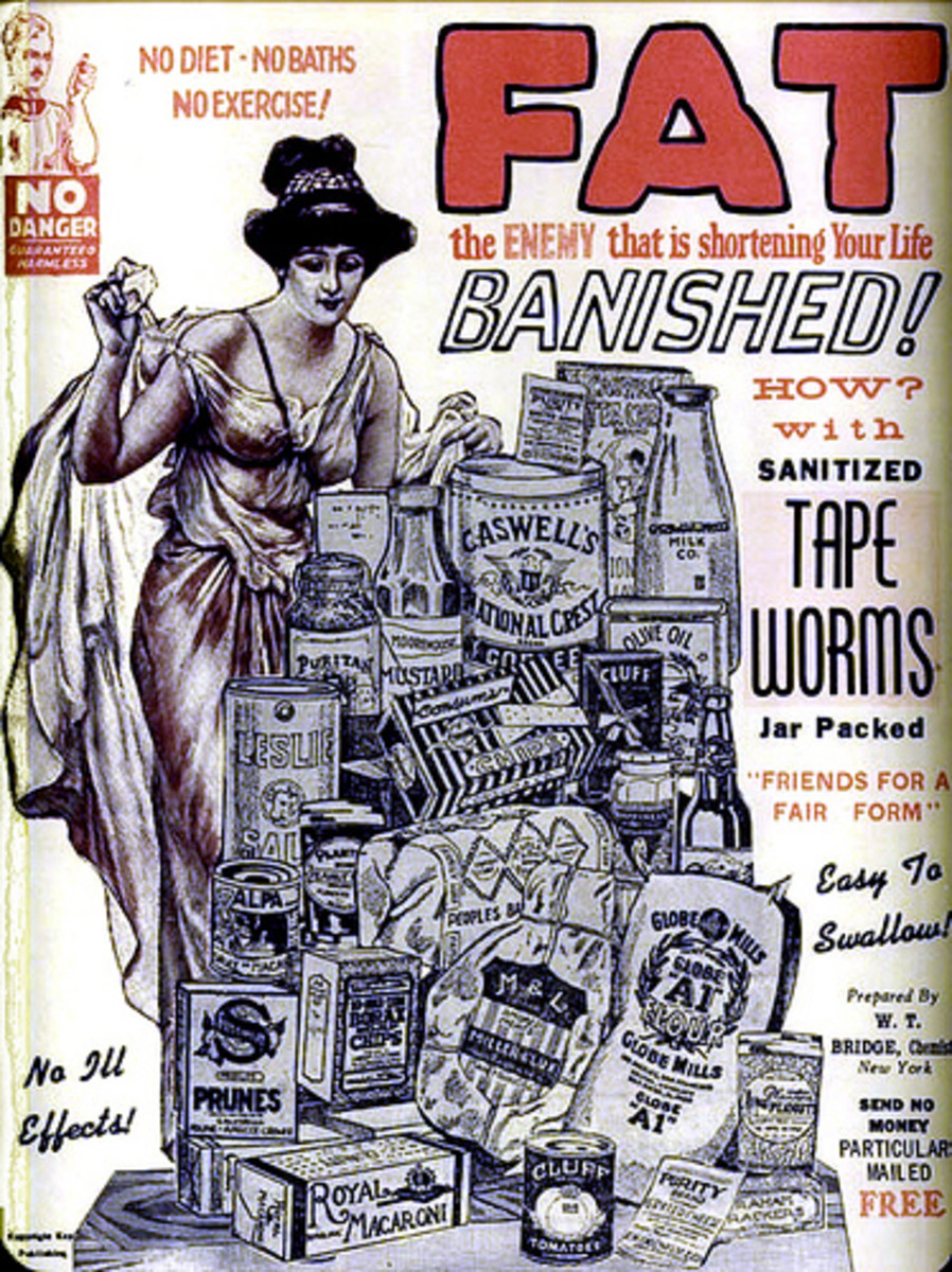 Tapeworm Diet Poster from years ago.