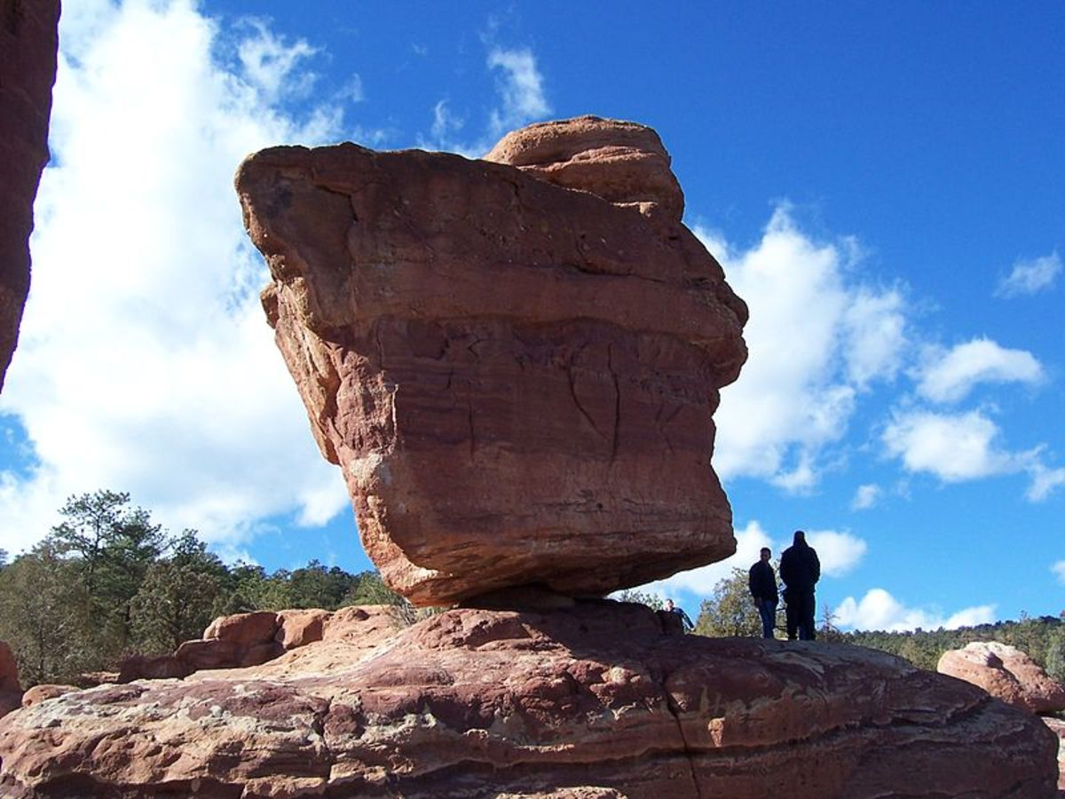 At Garden of the Gods Park in Colorado Springs, Colorado