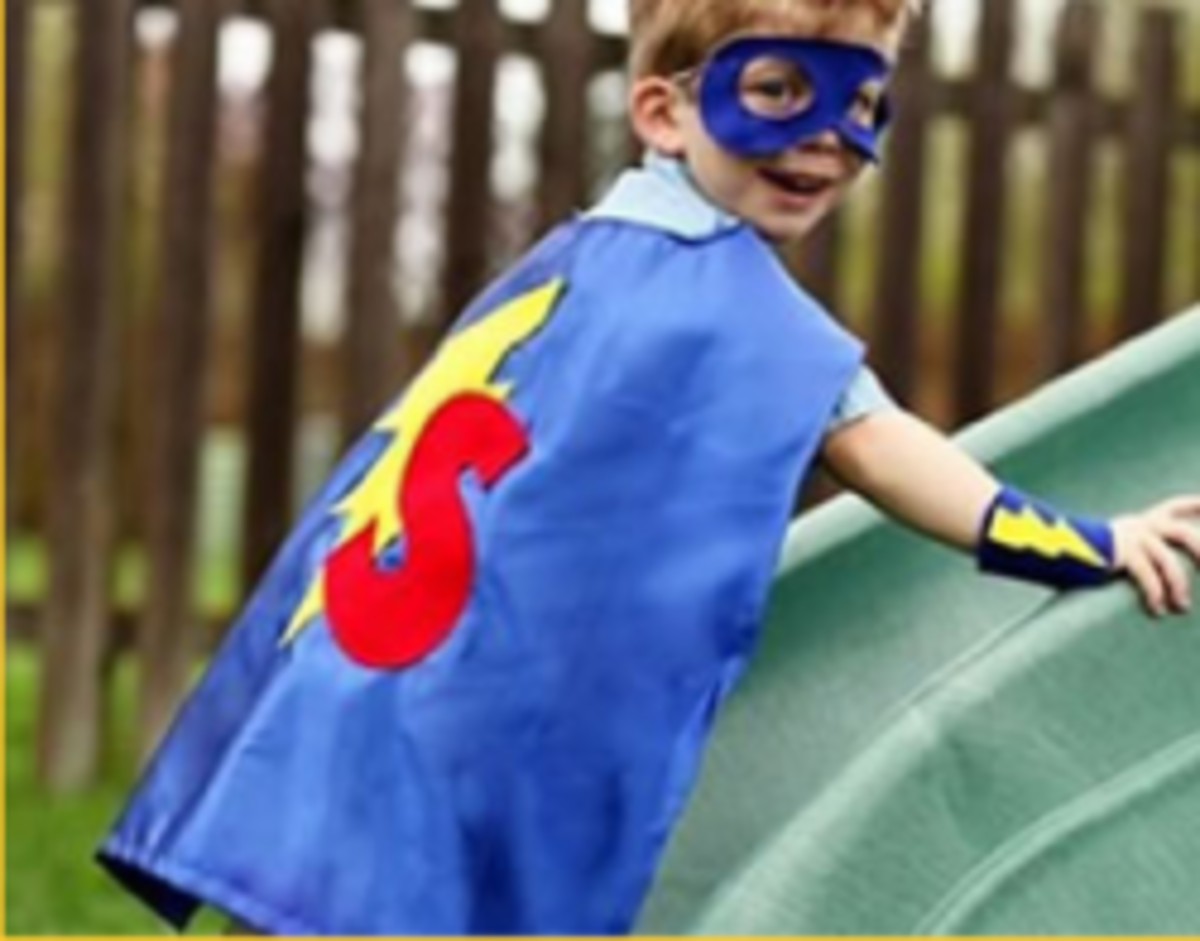 DIY Kids Super Hero Dress Up Costumes