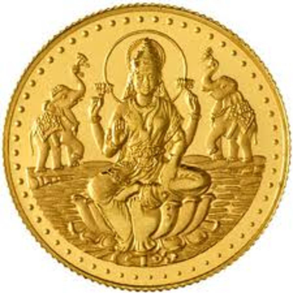 Laxmi Gold Coin