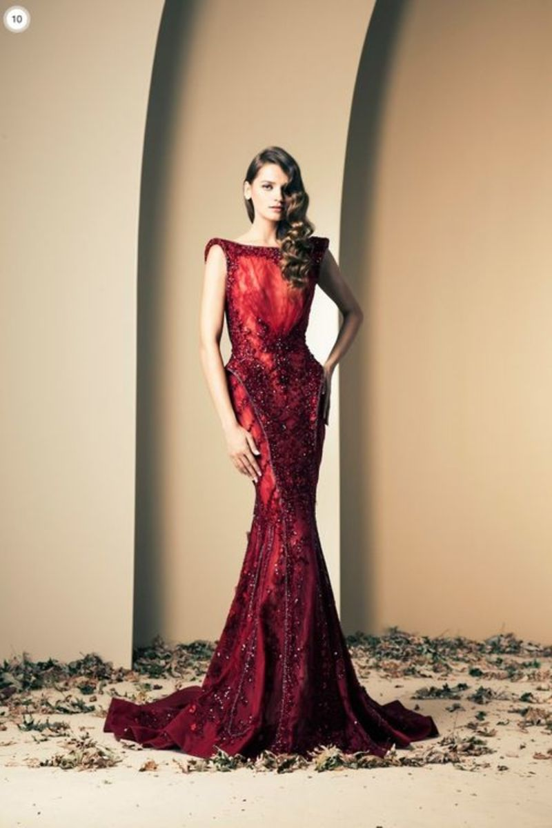 Ruby Silhouette Gown by Ziad Nakad