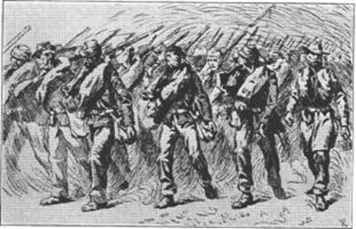 Sketch - Union troops on Campaign