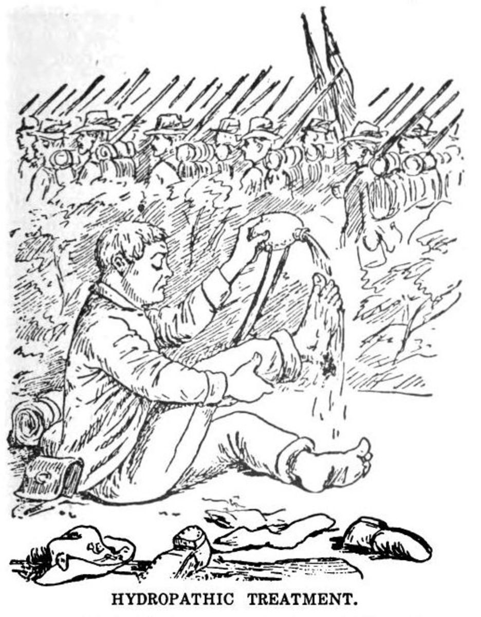 Sketch - a straggler bathes his feet