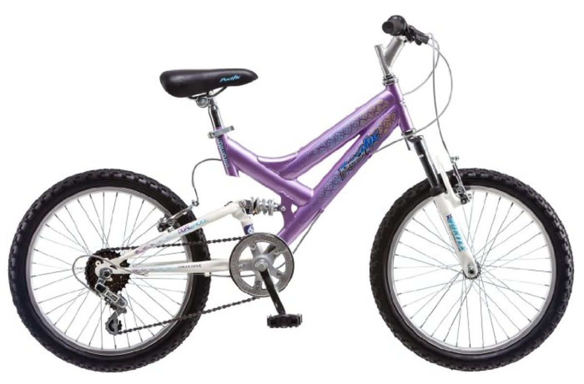 Pacific Girl's 20-Inch Chromium Mountain Bike, Purple