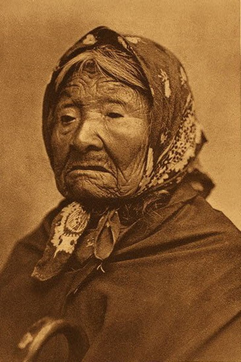 Princess Angeline in an 1896 photograph by Edward Sheriff Curtis
