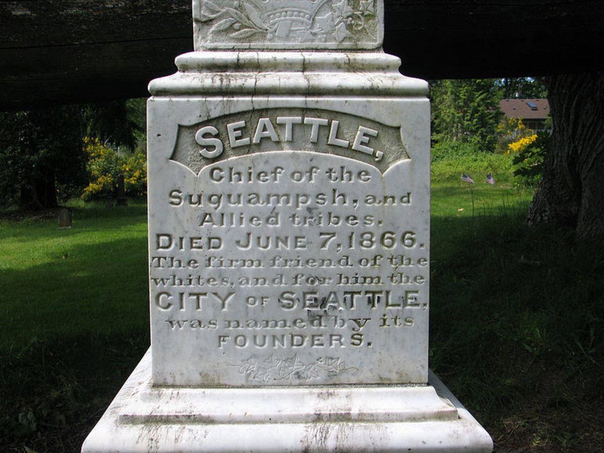 Tombstone of Chief Seattle