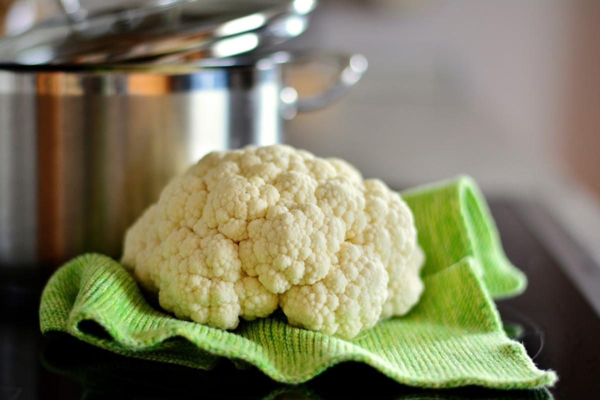 fresh head of cauliflower