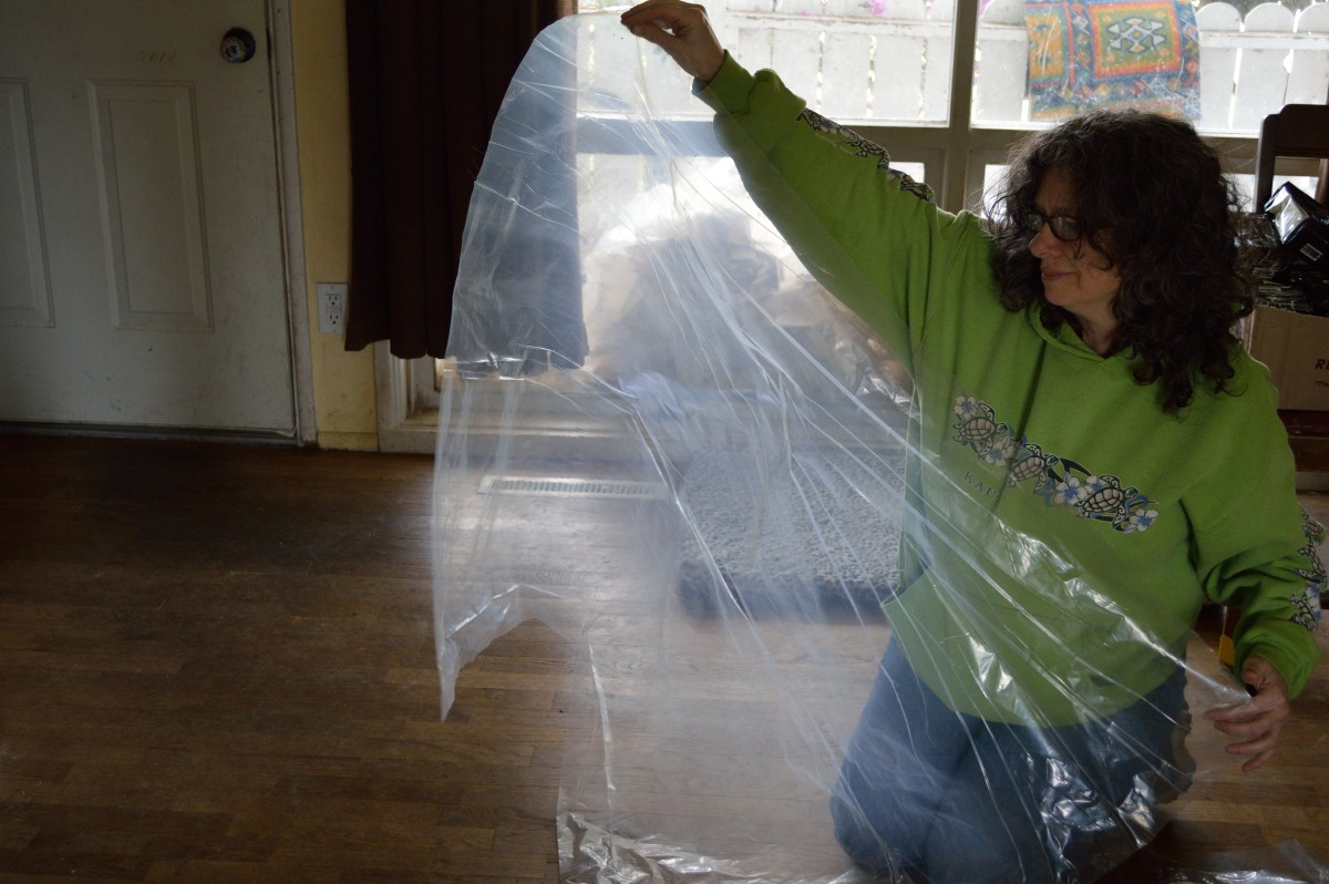 Cut four sheets of plastic