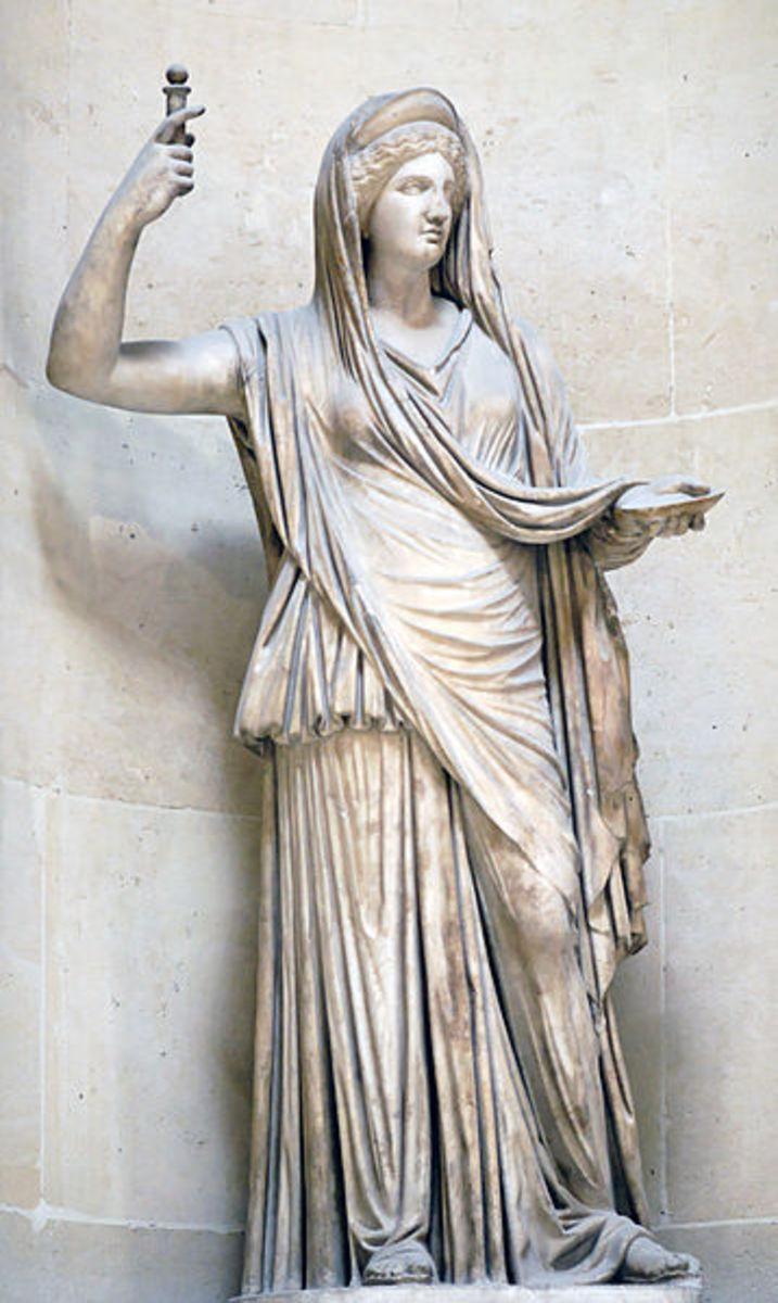 Hera, Wife of Zeus and Queen of the Gods.