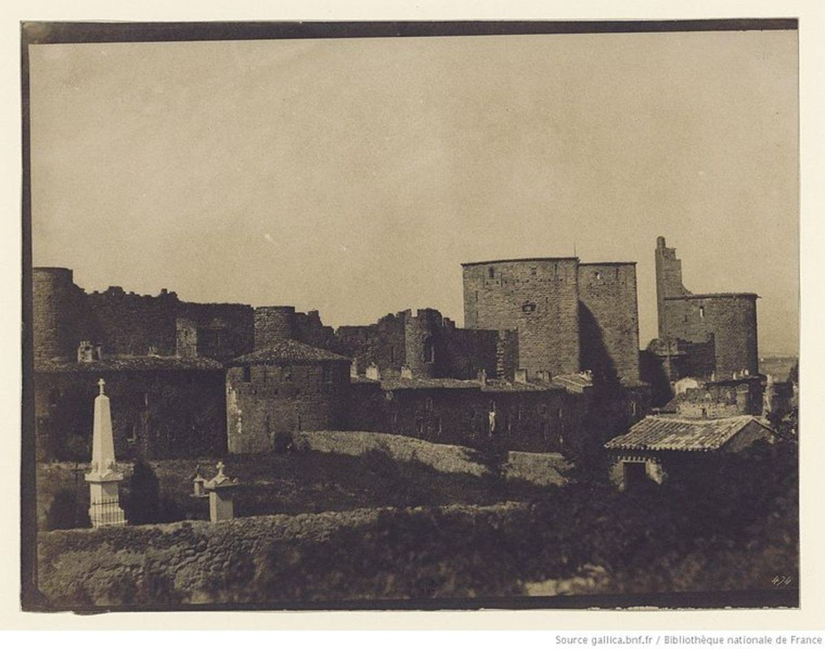 City of Carcassonne France, 1851, by Gustave Le Gray.