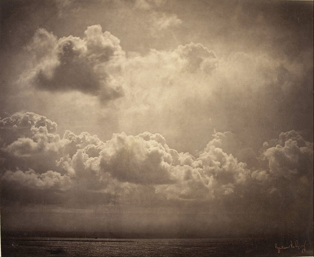 Another black and white image of Gustave Le Gray's work.  It is so beautiful.  Also, I love the perspective, etc.  Albumen print.