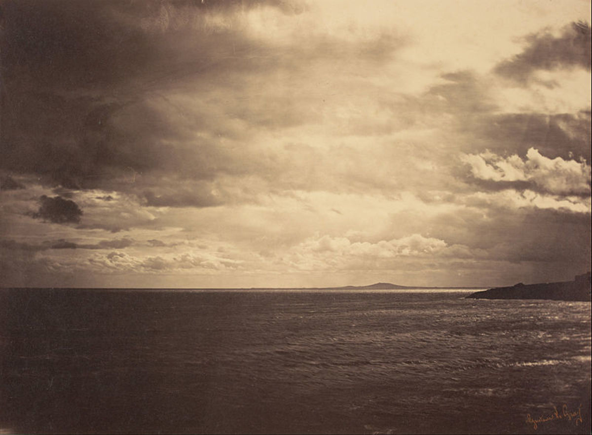 1857 - Albumen Silver - Gustave Le Gray - Cloudy Sky on Mediterranean Sea.
