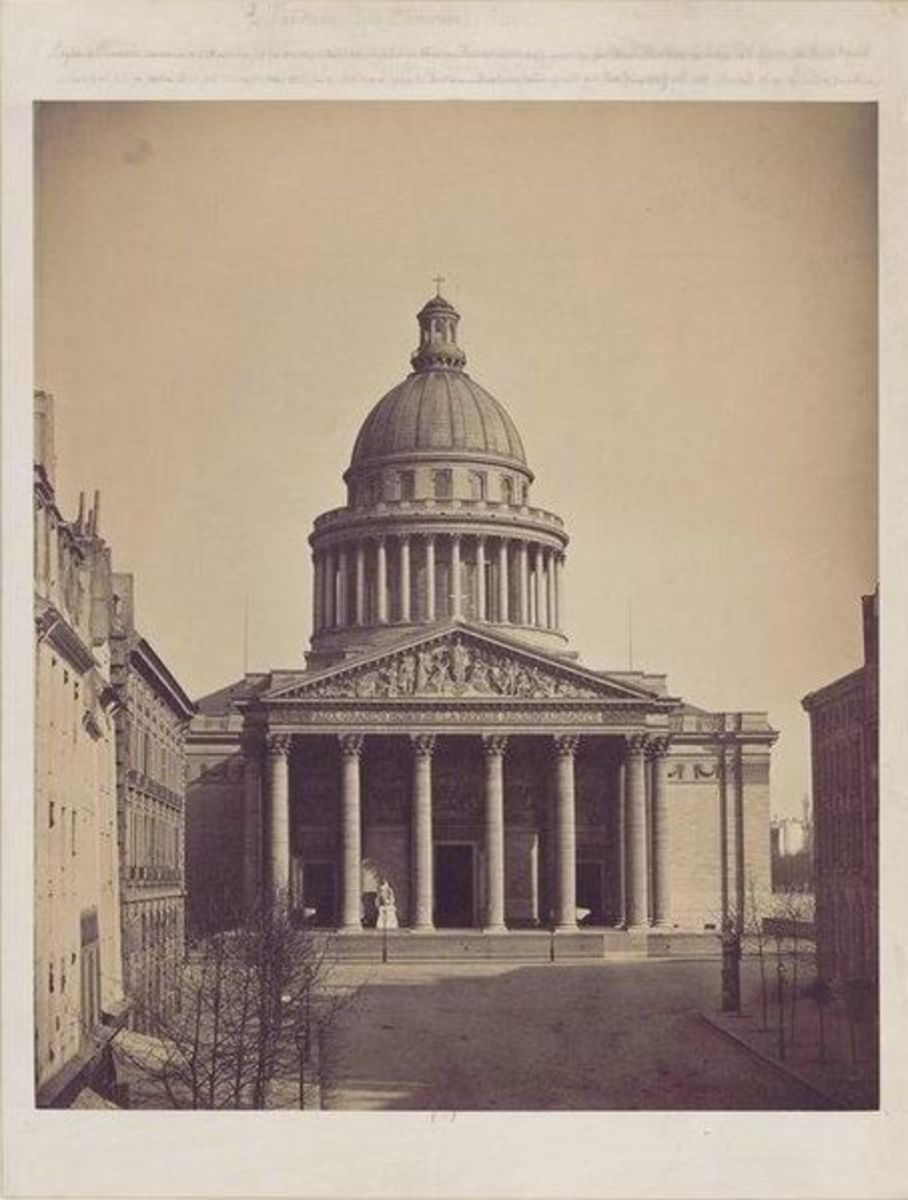 Pantheon photo, Paris, Gustave Le Gray.  Not dated, and possibly an earlier image of Le Grays.  Albumen print - Height: 50 cm (19.7 in). Width: 39.7 cm (15.6 in)..