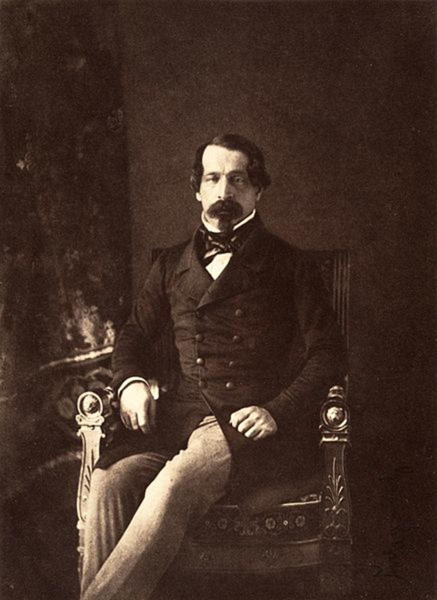 Another portrait of Louis-Napoleon, President of the republic.  Dated 1852.  By Gustave Legray. Albumen silver print from paper negative.