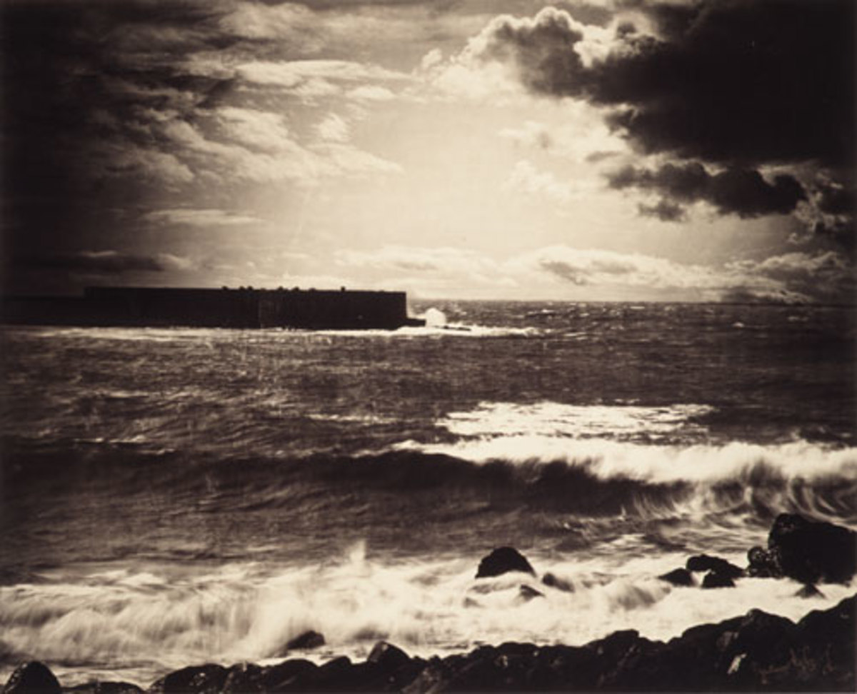 The Great Wave, Sète, 1857.  Being someone that loves the ocean, I found this rather interesting.  Albumen silver print from glass negative; 33.7 x 41.4 cm (13 1/4 x 16 5/16 in.)
