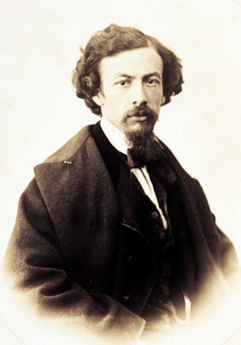 By Gustave Le Gray, who lived from 1820 through 1884.  This is a cropped form of the photo.  Image in the public domain.