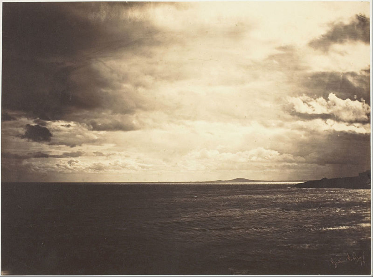 Cloudy Sky Mediterranean Sea.  A very beautiful image. 1857