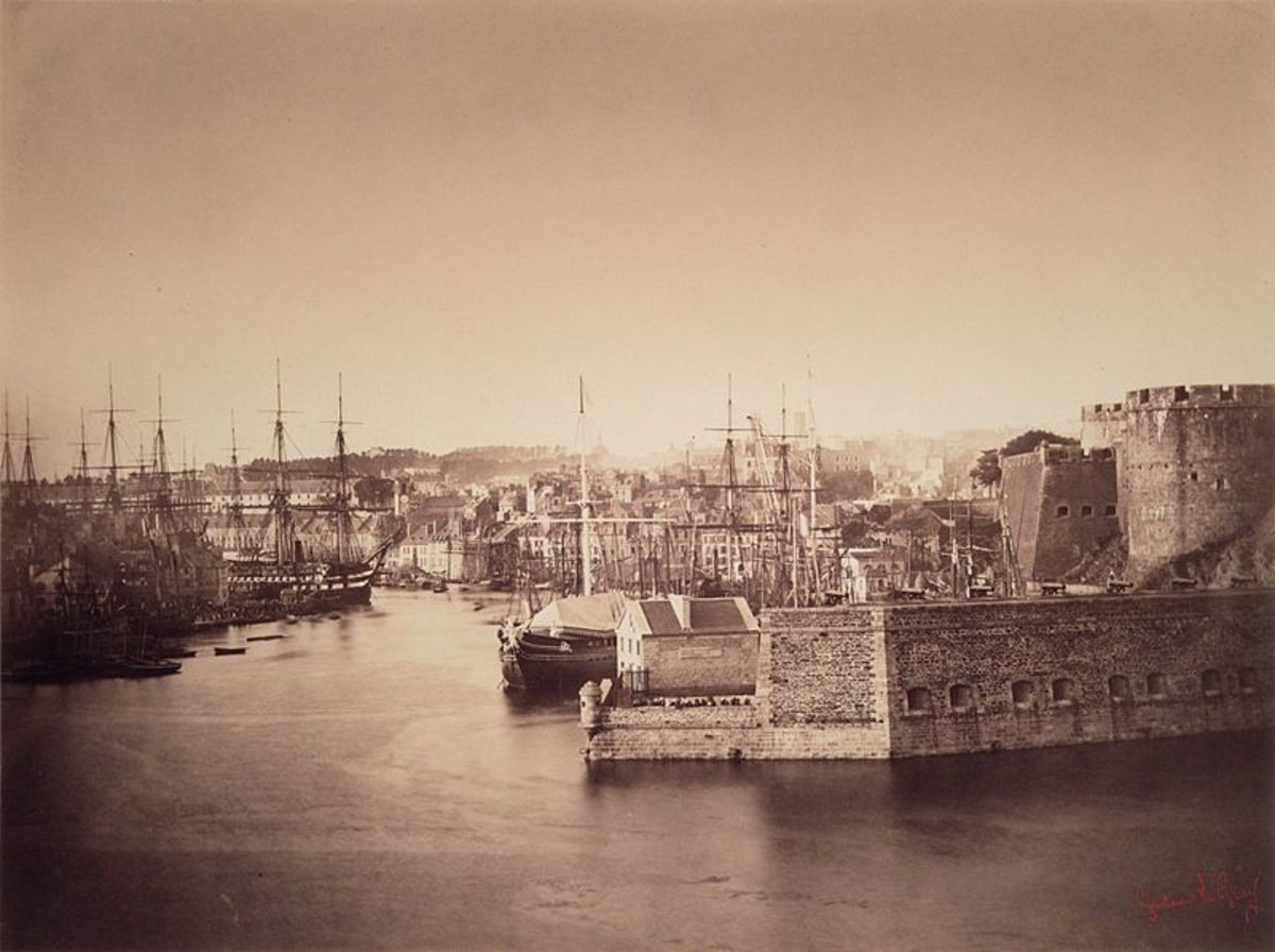 Brest Gustave Le Gray - 1858.  A spectacular image and subject.