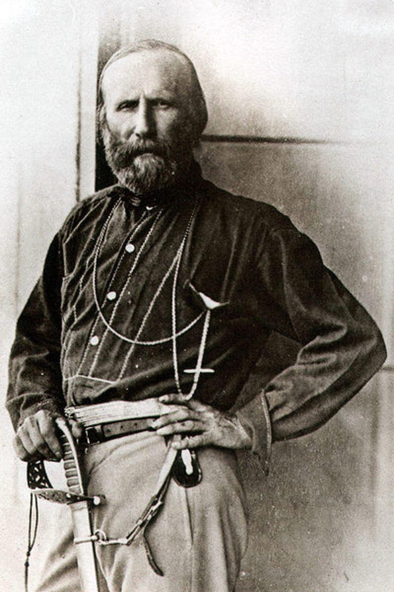 Gustave Le Gray,  Giuseppe Garibaldi Palermo 1860.