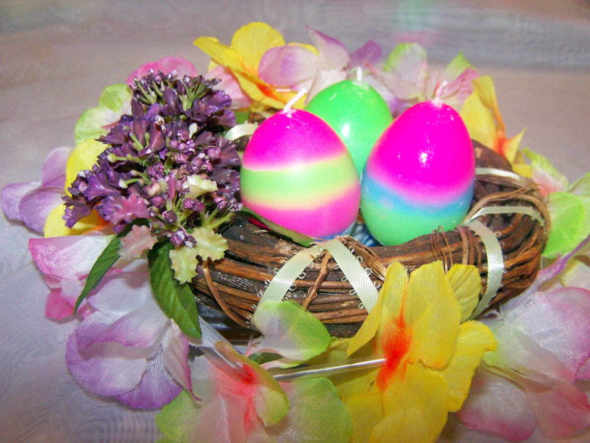 Ostara Candles made from egg shells!