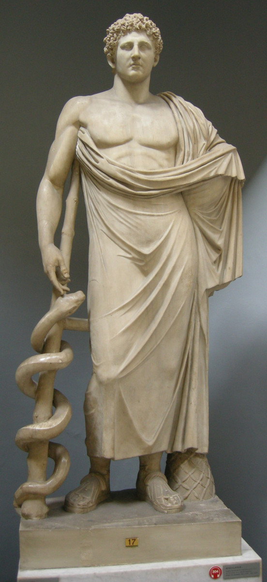 Asclepius Son of Apollo and Coronis