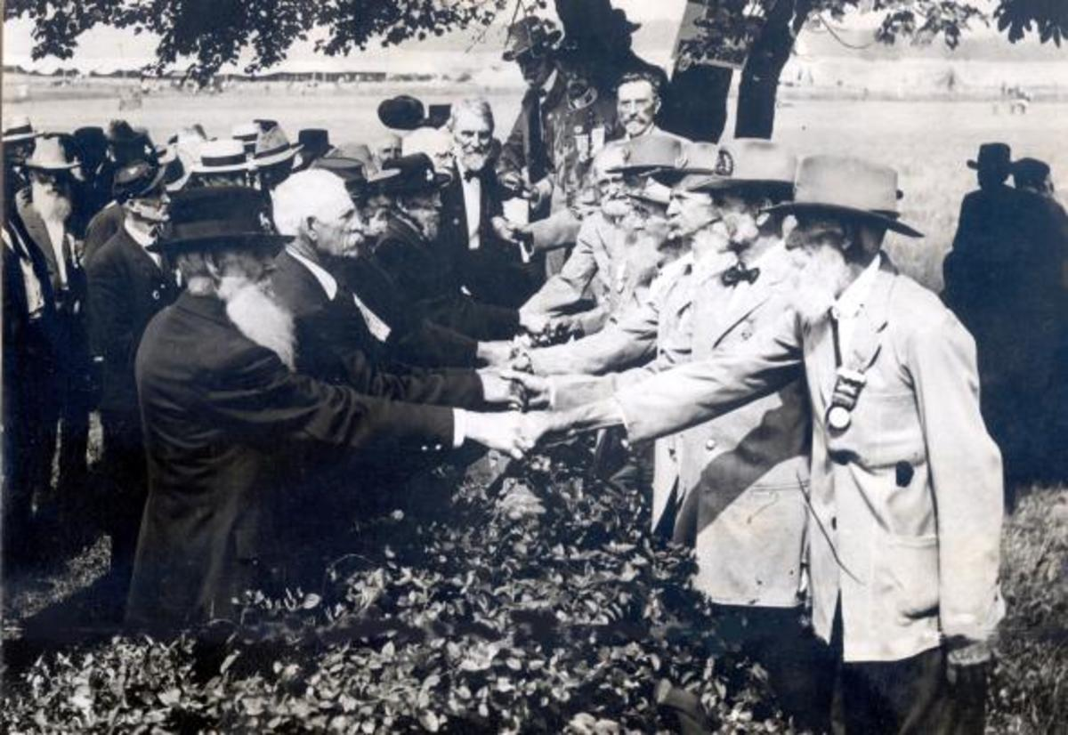 1913 Reunion of Veterans, Union and Confederate, of the Battle of Gettysburg at Gettysburg, PA