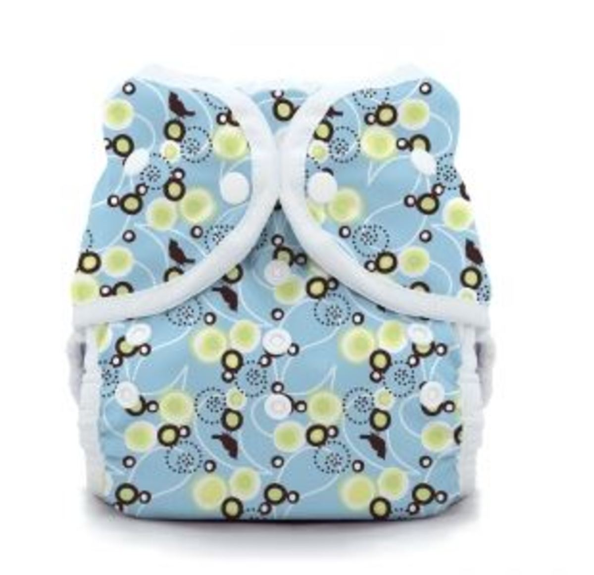 Baby Bird Blue Thirsties Print