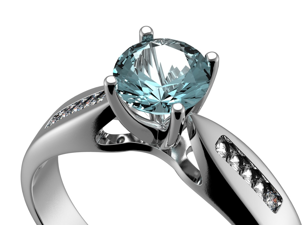 Aquamarine Engagement Rings: Aquamarine vs. Diamond