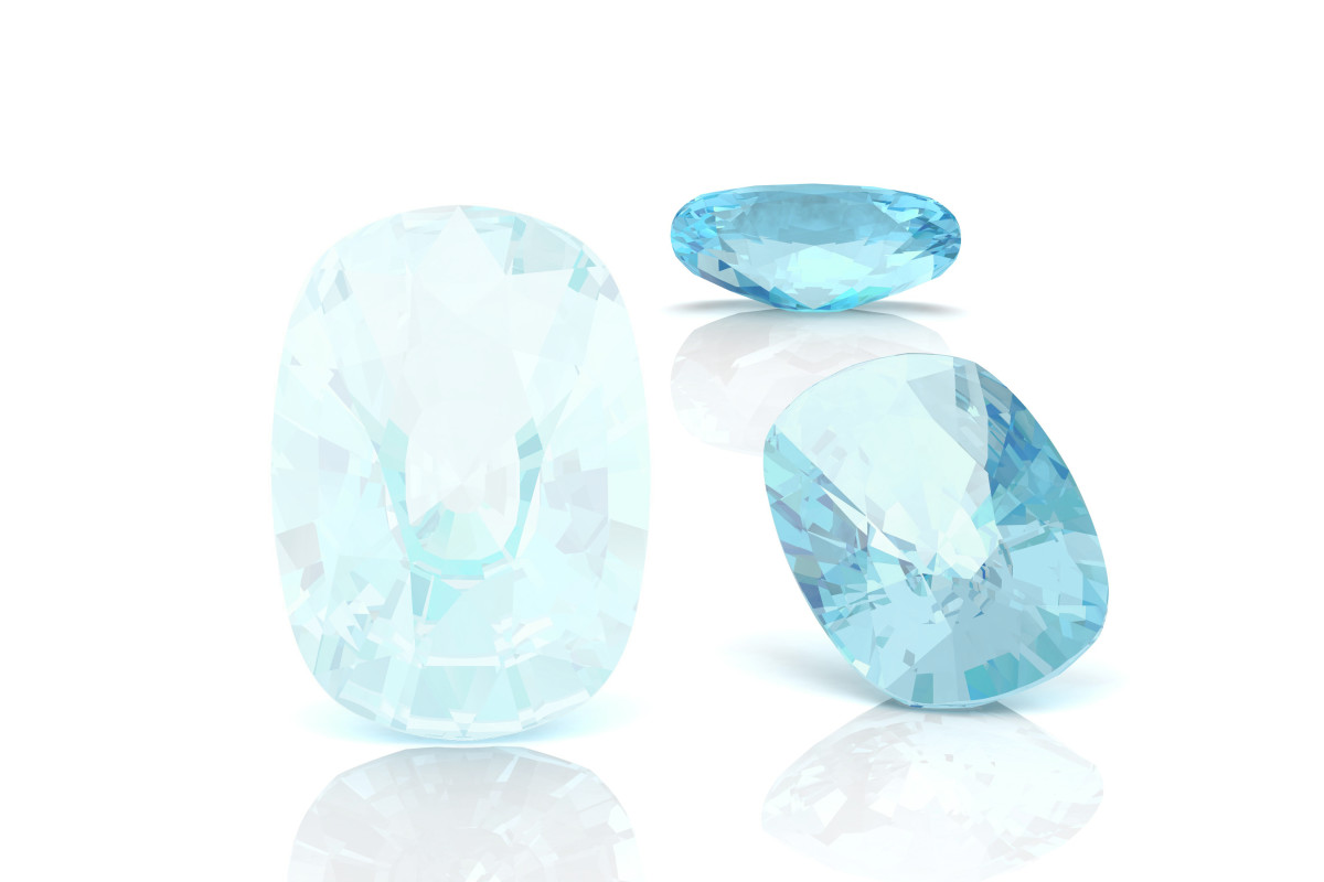 Different shades of Aquamarine.