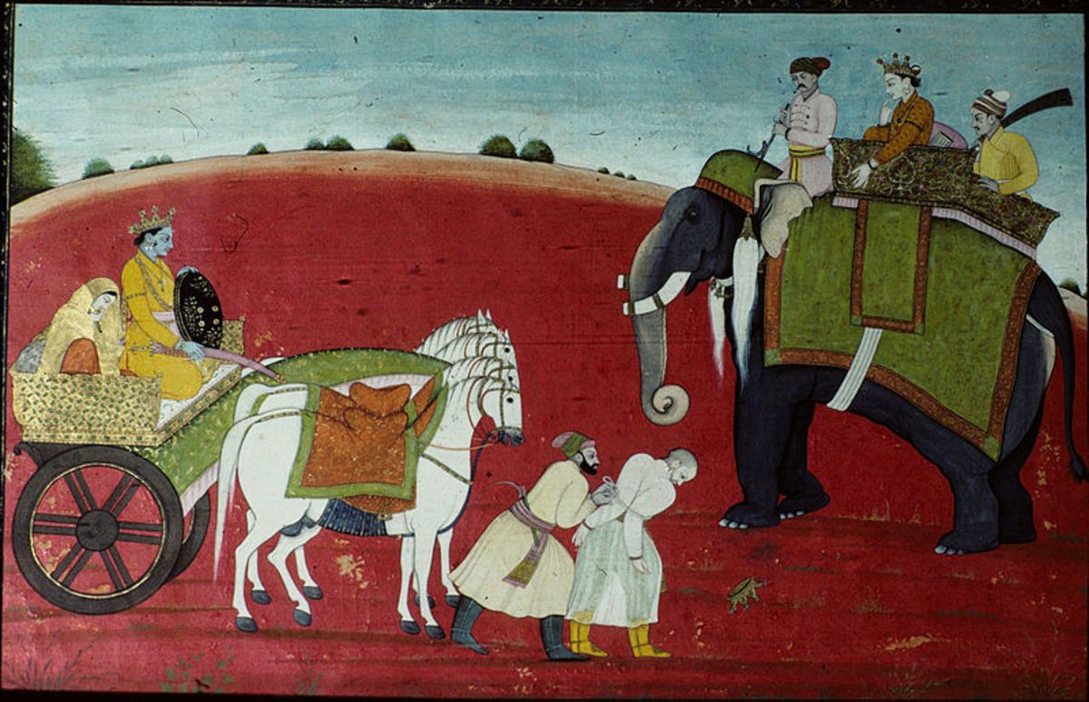 Krishna releases the defeatedRukmi,1770 AD